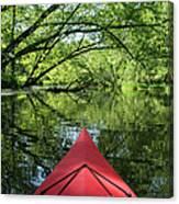 Kayaking Backwater Mississippi 1 Canvas Print