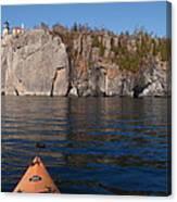 Kayaking Beneath The Light Canvas Print