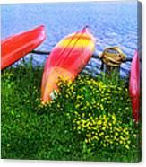 Kayaks At Lake Galena Canvas Print