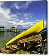 Kayaks Canvas Print
