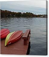Kayaks By The Lake Nj Canvas Print