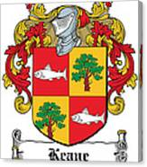 Keane Coat Of Arms Clare Ireland Canvas Print