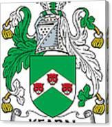 Kearn Coat Of Arms Irish Canvas Print
