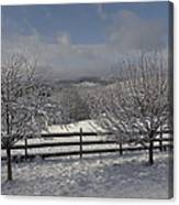 Kedron Valley After A Snow Canvas Print