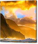 Ke'e Beach Sunset Canvas Print