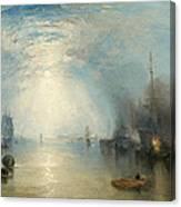 Keelmen Heaving In Coals By Moonlight Canvas Print