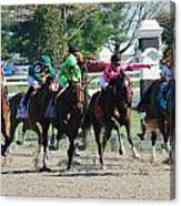 Keeneland Run Canvas Print