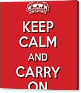 Keep Calm 2 Red Canvas Print