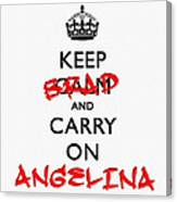 Keep Calm And Carry On 01 Canvas Print