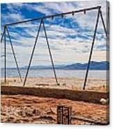 Keep Out No Playing Here Swing Set Playground Canvas Print