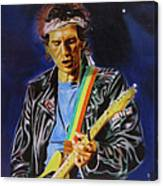Keith Richards Of Rolling Stones Canvas Print