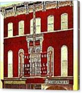 Keith's Jewel Vaudeville Theatre In Easton Pa In 1910 Canvas Print