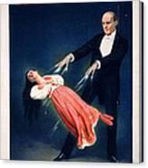 Kellar Levitation Vintage Magic Poster Canvas Print