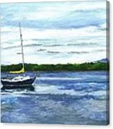 Kellogg's Bay Vt View Of Lake Champlain And Camel's Hump Canvas Print