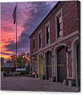 Kenmore Fire Hall Sunset Canvas Print