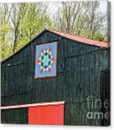Kentucky Barn Quilt - 2 Canvas Print