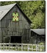 Kentucky Barn Quilt - 3 Canvas Print