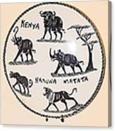 Kenya Animals Canvas Print