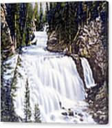 Kepler Cascades Yellowstone National Park Canvas Print