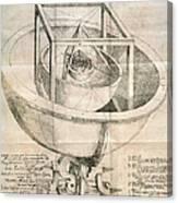 Keplers Universe, 1596 Canvas Print