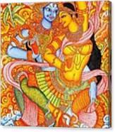 Kerala Fresco Mural Canvas Print