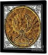 Kerosene Lamp - Brass Etching Canvas Print