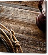 Kerosene Lamp And Lariat Canvas Print