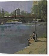 Kew Bridge, 2009 Oil On Canvas Canvas Print