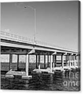 Key Biscayne Bridge Bw Canvas Print