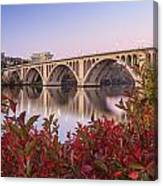 Graceful Feeling - Washington Dc Key Bridge Canvas Print