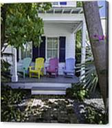 Key West Chairs Canvas Print