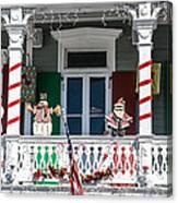 Key West Christmas Decorations 1 Canvas Print