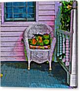 Key West Coconuts - Colorful House Porch Canvas Print