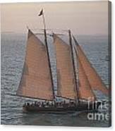 Sail Boat - Key West Florida Canvas Print
