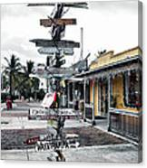Key West Wharf Canvas Print