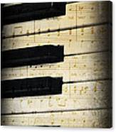 Keyboard Music Canvas Print
