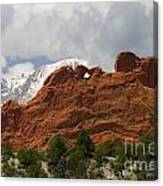 Keyhole To Pikes Peak Canvas Print