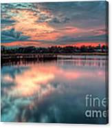 Keyport Nj Sunset Reflections Canvas Print