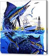Keys Sail Canvas Print