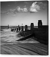 Kicked In The Groyne Canvas Print