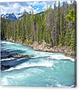 Kicking Horse River In Yoho Np-bc Canvas Print