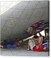 Kids At The Bean Canvas Print