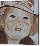 Kids In Hats - Fishing Trip Canvas Print