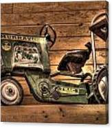 Kids Toy Pedal Tractor On Shelf Canvas Print