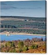 Kielder Dam And Valve Tower Canvas Print