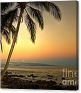 Kihei Palm Sunrise Canvas Print