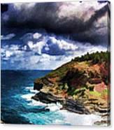 Kilaeua Point National Wildlife Refuge- Kauai  Hawaii Canvas Print