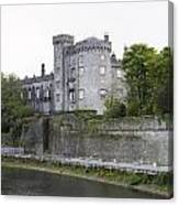 Kilkenny Castle Seen From River Nore Canvas Print