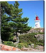 Killarney Lighthouse On The Rocks  Canvas Print