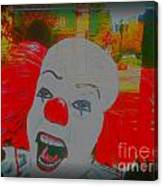 Killer Clowns In Fresco Canvas Print